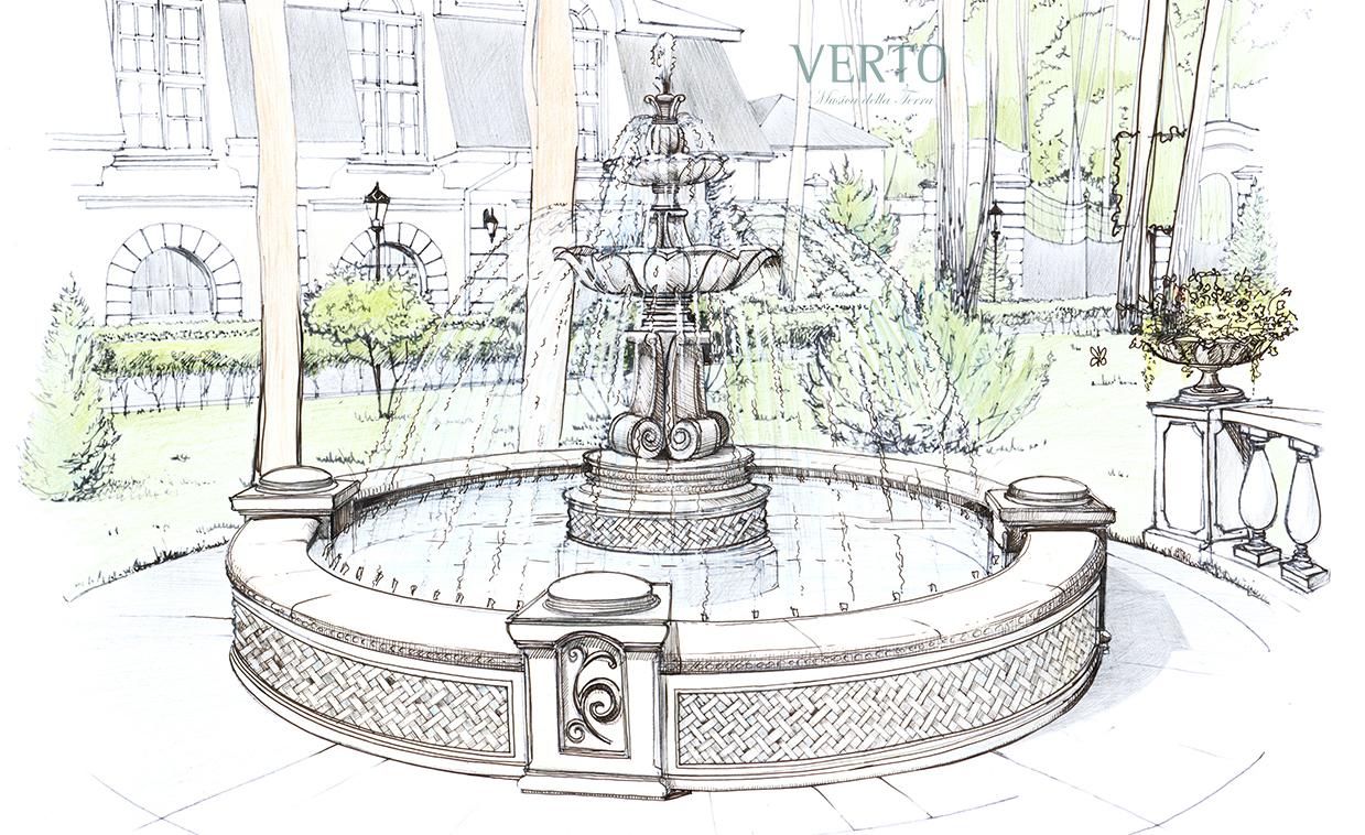 фонтан картинка с размерами полотна